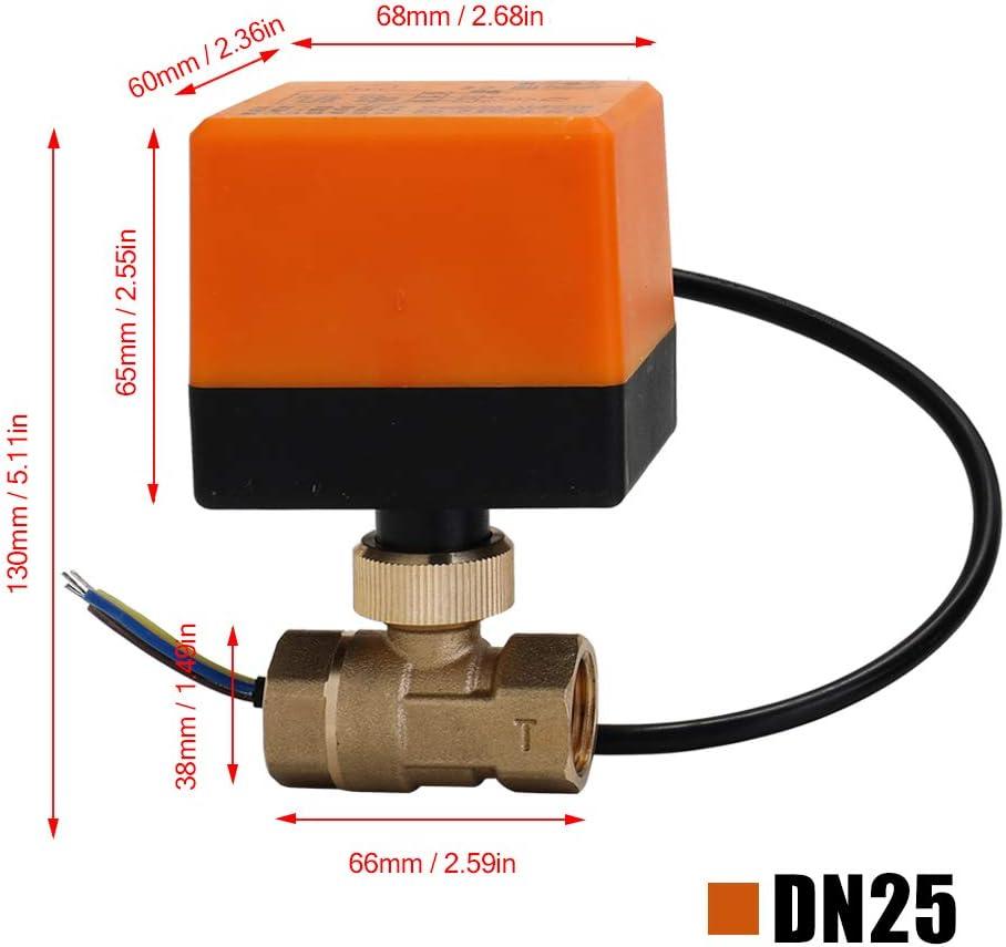 Impermeabile Valvola a 2 vie a 3 vie AC220V AC24V DC12V in Ottone con Attuatore DN15 DN20 DN25 DN32 DN40 DN50,per luso Domestico Valvola Motorizzata