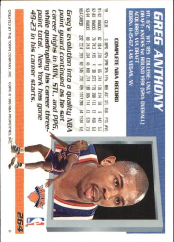 Amazon.com: 1994 Topps Basketball Card (1994-95) #264 Greg ...