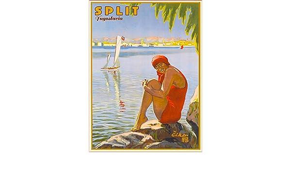 Slovenija Jugoslav Yugoslavia Yugoslavian Croatia Vintage Travel Art Poster