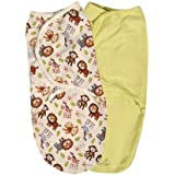 Summer Infant SwaddleMe Adjustable Infant Wrap, Jungle Buddies, Small/Medium, 2 Count