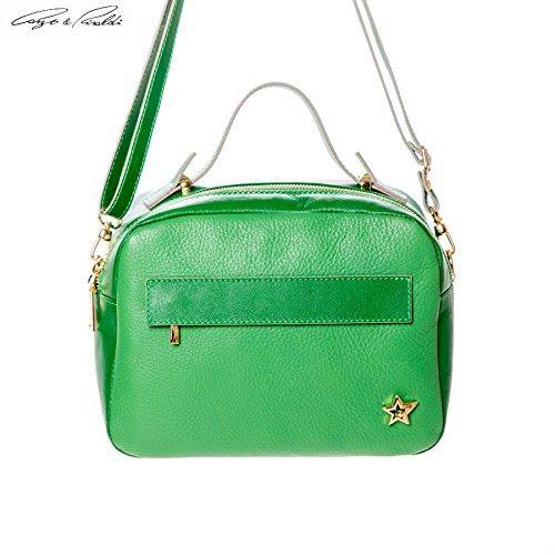 Cango&Rinaldi , Sac pour femme à porter à l'épaule vert Green petit