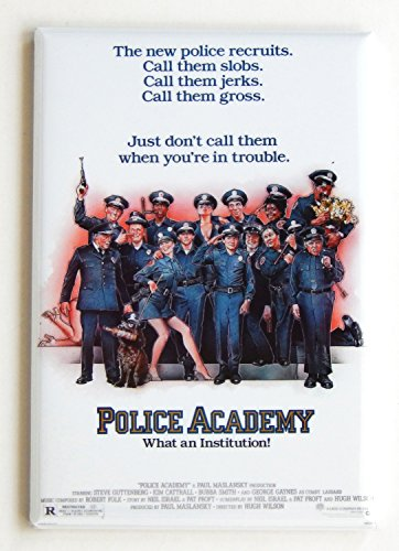 Police Academy Movie Poster Fridge Magnet (2 x 3 (Police Academy Poster)