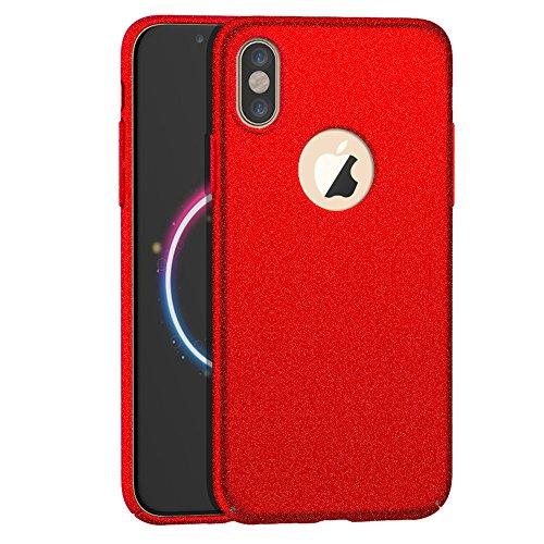 Anccer Funda iPhone X Case [Serie Colorida] [Ultra Delgado] [Anti-Drop] ultrafin Premium Carcasa (Grava Rojo) Grava Rojo