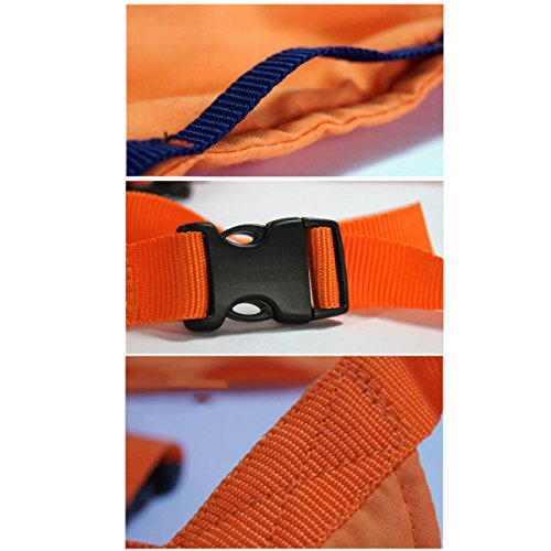 Wonpurs Baby Chair Belt Harness, Portable Travel Safety Belt Booster Feeding High Chair Seat Cover Sack Cushion Bag for Baby Kid Toddler (Orange) by Wonpurs (Image #2)