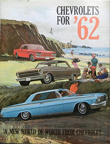 1962 CHEVROLET DEALERSHIP SALES BROCHURE For Impala, Bel Air, Biscayne, Chevy II (300, 100), Nova 400, Corvair (Monza, 700, 500, Station Wagon, Greenbrier), Corvette - Wagons & Convertibles (1962 Chevy Ii Nova Convertible For Sale)