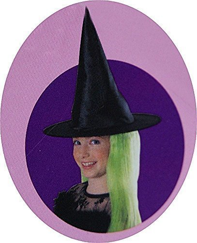 Childrens' Halloween Witch Hat with Neon Green