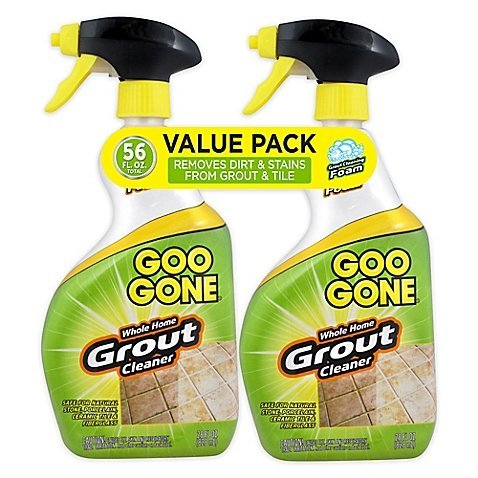 Goo Gone Grout Cleaner 28 oz. Trigger Twin Pack | Maximum Strength Foam Formula Removes Dirt Built-Up