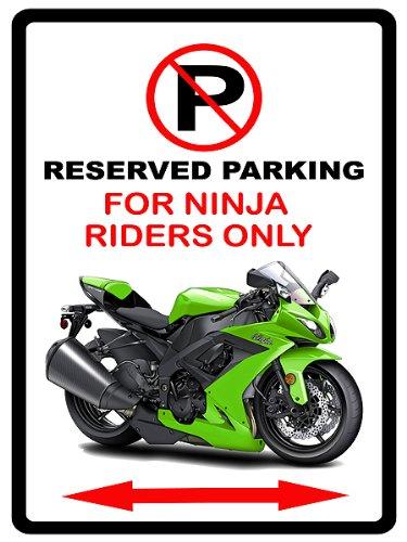 Kawasaki Ninja moto Cartoon No Parking Sign: Amazon.es: Jardín
