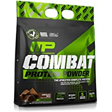 MusclePharm Combat Protein Powder - Essential blend of Whey, Isolate, Casein and Egg Protein with BCAA's and Glutamine for Recovery, Chocolate Milk, 10 Pound, 129 Servings