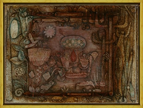 Berkin Arts Framed Paul Klee Giclee Canvas Print Paintings Poster Reproduction(Botanical Theater)