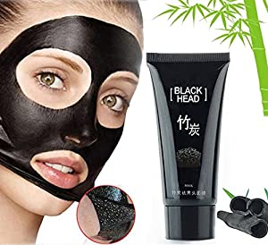 Black Mask, Blackhead Remover, Facial Masks, Facial Exfoliators Blackhead Remover Cleaner Purifying Deep Cleansing Acne Strawberry Nose Purifying Black Mud Face Mask Peel-off (60g)