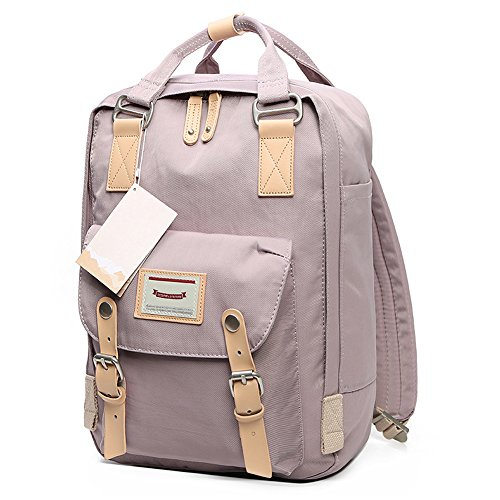 HaloVa Backpack, Unisex Laptop Bag Travel Rucksack, Small School Bag Daypack for School Working Hiking, Waterproof & Durable, Lavender (Working Girl Bag)