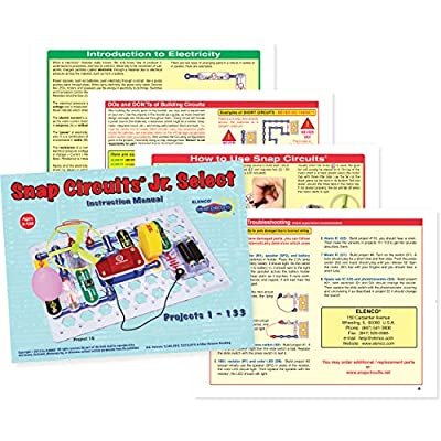Snap Circuits Jr. Select SC-130 Electronics Exploration Kit | Over 130 Projects | Full Color Project Manual | 30+ Parts | STEM Educational Toys for Kids 8+: Toys & Games