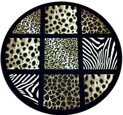 (Sculpture Modern Area Rug Animal Skin Print Black Brown Beige Design 251 (7 Feet 8 Inch X 7 Feet 8 Inch))