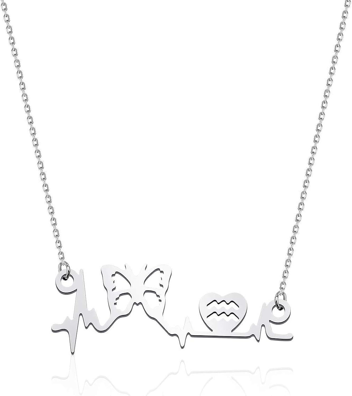 Registered RN Nurse Gift lpn Nurse Stethoscope Necklace Heart Beat Necklace Doctors EKG paramedic emt gift bsn Practitioner