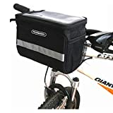 Docooler Cycling Bicycle Bike Handlebar Bag Front Tube Pannier Rack Bag Basket Black
