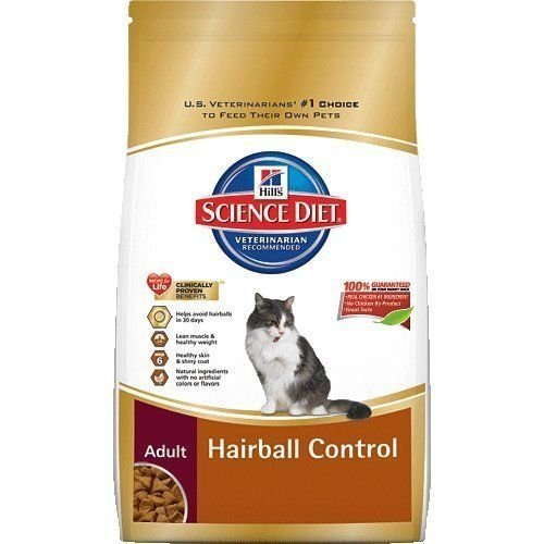 Hill's Science Diet Adult Hairball Control Dry Cat Food, 7-Pound Bag, New by ill's Science Diet