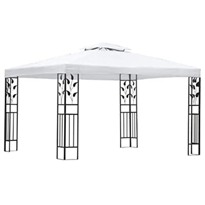 vidaXL Canopy Gazebo Outdoor Patio Gazebo Tent Great for Providing Extra Shade for Your Yard, Patio, Garden, Outdoor, Party or BBQ(with Steel Frame) 118.1x157.5 inch White : Garden & Outdoor
