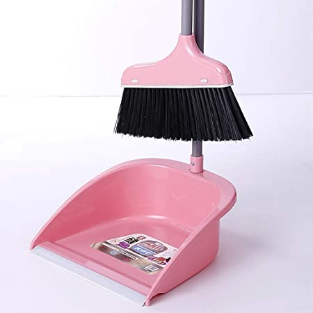 XXFFD Tand Broom Set Escoba de Goma for Interiores Escoba de jardín Cepillo de Barrido Barredora de Piso Escoba Polvo (Color : Pink): Amazon.es: Hogar