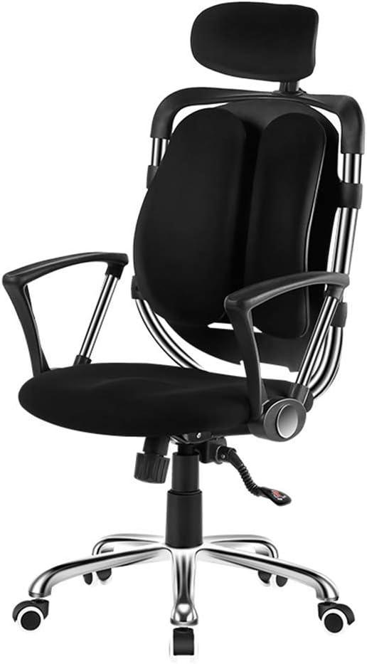 STOOL Chaise d'ordinateur Brisk Tabouret Tabouret, conforme à l'ergonomie, pivotante à 360 degrés, repose-pied-accoudoir en acier jk/Vin rouge Noir
