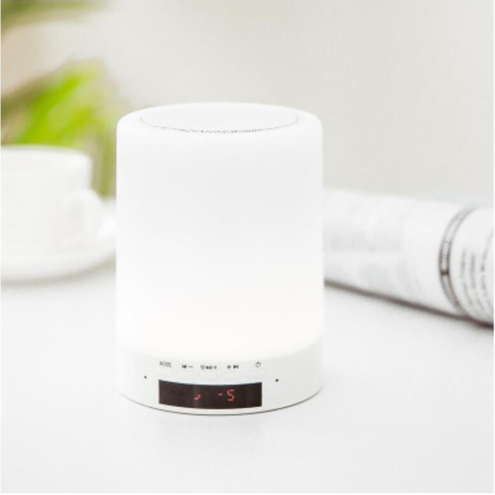 PLZY Nachttischlampe mit Blautooth Blautooth Blautooth Lautsprecher, Touch Control Nachtlicht, Warm entspannend LED-Farben für besseren Schlaf, Groß für Wohnzimmer und Schlafzimmer, Kinder schlafen B07MF6ZJKT | Primäre Qualität  77fae3