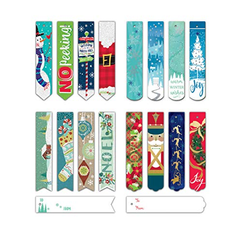 (Bundle of 96 Assorted Christmas Bookmark Tags, Holiday Gift Tags 96ct)