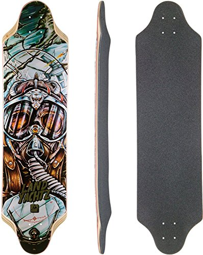 Landyachtz Top Speed Longboard Skateboard Deck with Grip Tape (Landyachtz Skateboards Longboard)