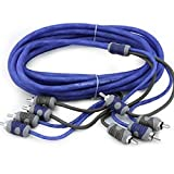 Kicker KI44 4-Meters 4-Channel K-Series RCA Audio Interconnect Cable