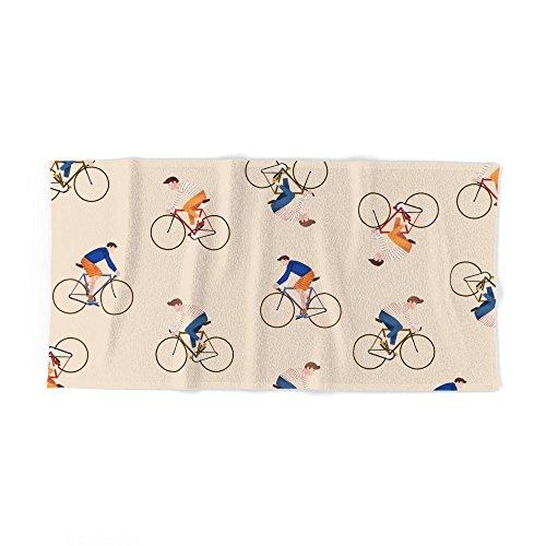 "Society6 Bike Pattern Bath Towel 64""x32"""