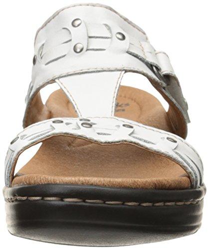 Clarks Hayla joven vestido de la sandalia White
