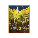 Sellmer Advent Christmas Holiday decor Star of Bethlehem Calendar 14''H x 10.5''W x 0.1''D ADV753