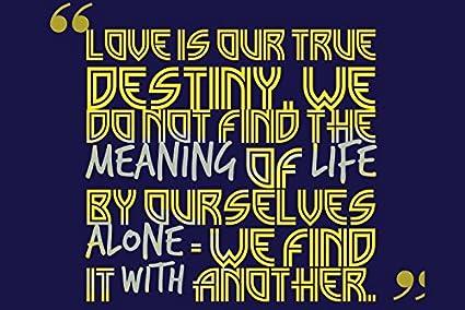 Posterhouzz Love Is Our True Destiny Fine Art Paper Print Poster
