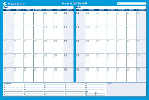 AtAGlance Wall Planner Calendar Undated Erasable  Day  X
