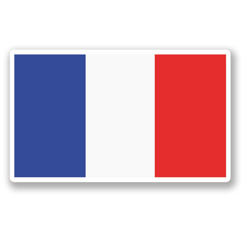 2 x 10cm France Vinyl Sticker iPad Laptop Car Flag Map Travel Luggage Tag #5167