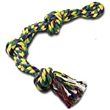 Dog Rope Toys for Large Dogs Aggressive Chewers, Sturdy 3-Knots Rope Tug, Tough Dog Chew Toy - Extra Durable - Nearly Indestructible - Washable, for Large Breeds Big Dogs