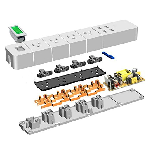 Power Strip Surge Protector 4-Outlets with 4 High Speed USB Charger Extension Cord 2000W/15A for iPhone iPad Samsung Smartphone Tablet Laptop, 6Ft Cord (Black) by Asunflower (Image #7)