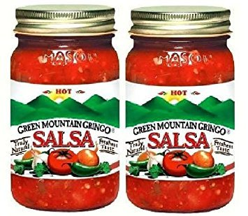Green Mountain Gringo Hot Salsa (16 oz Jars) 2 Pack by Green Mountain Coffee Roasters