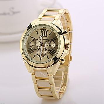 xunes (TM) 77 moda 2016 Nuevo reloj de las mujeres relojes de oro de
