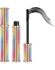 Mascara Black Volume and Length,Waterproof Mascara,4D Silk Fiber Lash Mascara,No Clumping, Fuller Lashes,All Day Exquisitely