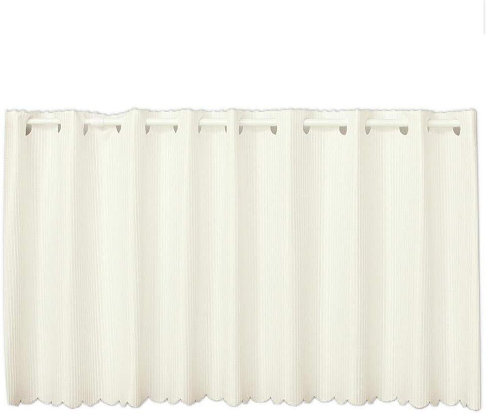 カフェカーテン 夜でも見えにくい 断熱省エネUVカットレース 4084ロフティオフホワイト 幅145x丈120cm1枚入 在庫品