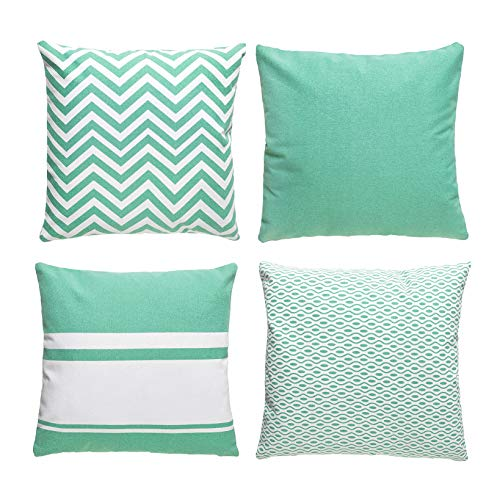 DISIMO Couch Pillows Set of 4 Throw Pillow Covers for Sofa 18 x 18 Inch 45 x 45 cm both of the ones Sides Black Friday & Cyber Monday 2018