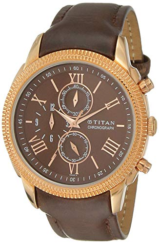 Titan Classique Analog Brown Dial Men #39;s Watch 1489WL02 / 1489WL02