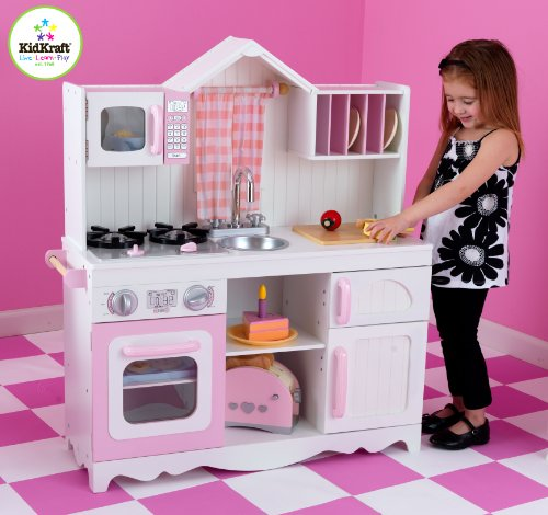 kidkraft modern country kitchen set: amazon.co.uk: toys & games - Kidkraft Espresso Küche