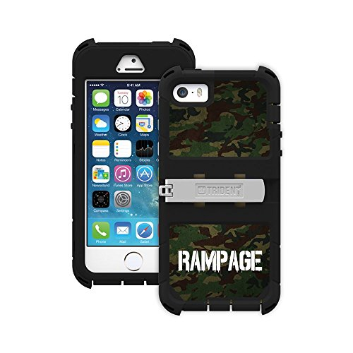 iPhone 5/5S Cover Case Green Camo   Trident Kraken AMS Series Rugged Protective Hard Silikon, Polycarbonat, Dual Layer on Hybrid Hülle Case mit Built-in Displayschutzfolie für Apple iPhone 5/5S