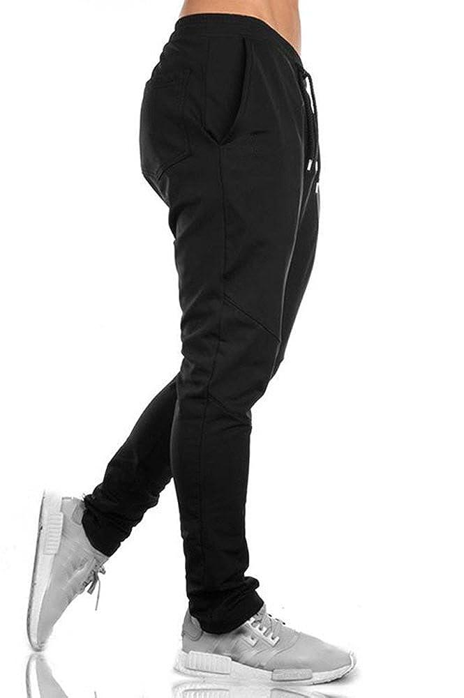 Kedera Mens Casual Drawstring Training Jogger Athletic Pants Sweatpants
