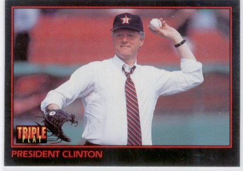 Bill Clinton Case (Donruss 1993 Triple Play 32 President Bill Clinton - Rookie Card (RC) - Baseball Card in Protective Case)