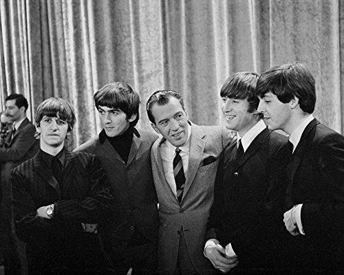 The Beatles With Ed Sullivan Rare Tv 16x20 Canvas Giclee