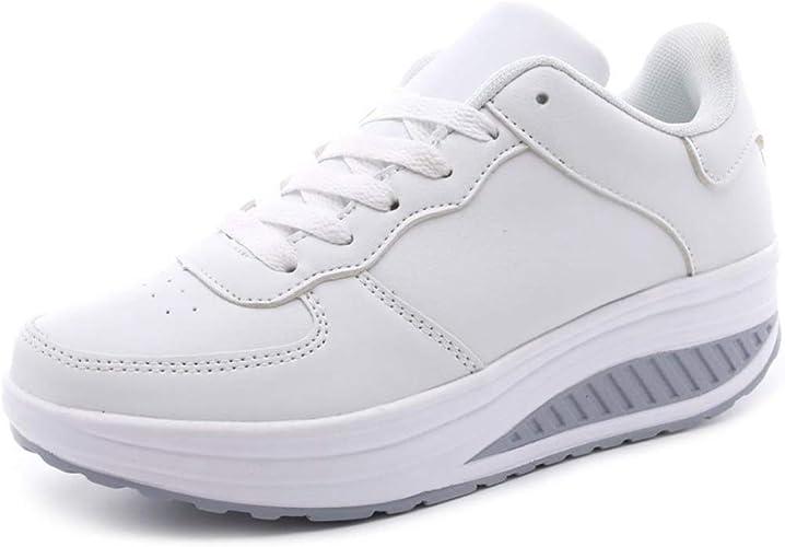 Mujeres Zapatos Casuales Zapatillas de Deporte de cuña Transpirables Impermeables Plataforma Caminar Gimnasio Correr Entrenadores: Amazon.es: Zapatos y complementos