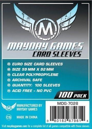 Mayday Games 59 x 92 mm Sleeves Euro Card Game (Pack of 100): Amazon.es: Juguetes y juegos