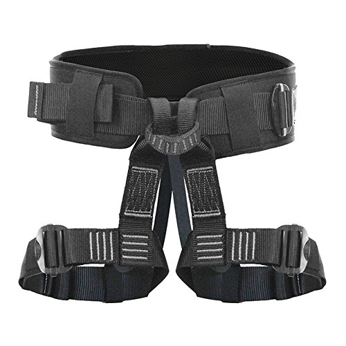 Fusion Climb Teka Tactical Padded Half Body Adjustable Bungee Dance Zipline Harness 23kN M-XL Black by Fusion Climb